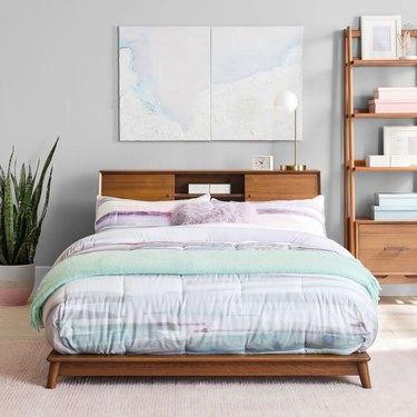 west elm midcentury modern bedroom Midcentury Headboard Storage Platform Bed