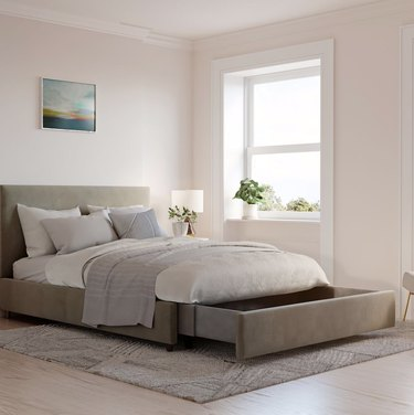 Bed with storage drawer