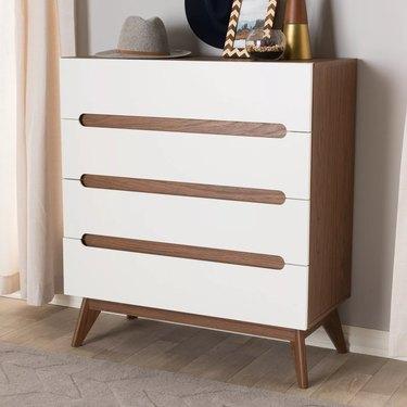 target midcentury modern bedroom Baxton Studio Calypso Midcentury Modern Wood 5-Drawer Chest