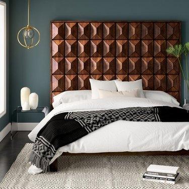 wayfair midcentury modern bedroom Mercury Row Mccaskill Panel Headboard