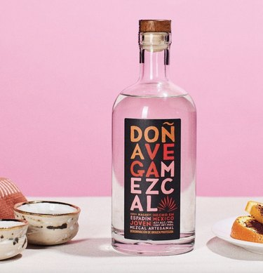 Mezcal with pink background