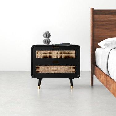 allmodern midcentury modern bedroom Bates 2-Drawer Nightstand