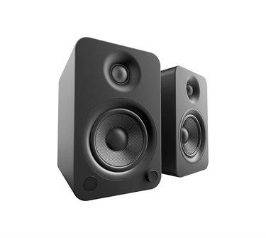 Set of black speakers
