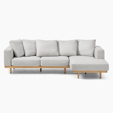West Elm Newport 2-Piece Chaise Sectional in Performance Coastal Linen