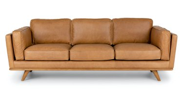 Article Timber Leather Sofa in Charme Tan
