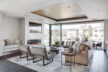 minimalist open concept living room