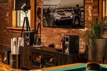 Klipsch speaker in living room