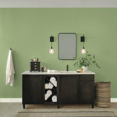 glidden guacamole paint in bathroom