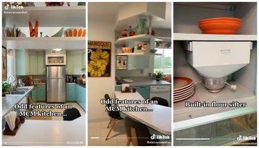 midcentury modern kitchen tiktok