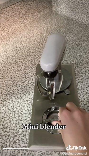 built-in midcentury mixer