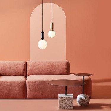 Peach couch