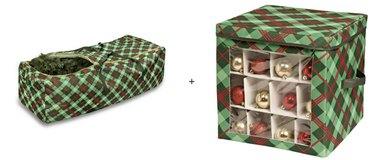Plaid Christmas storage bundle