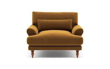 Velvet golden chair