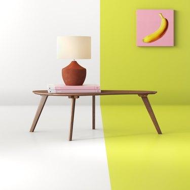 Abstract minimal wood coffee table