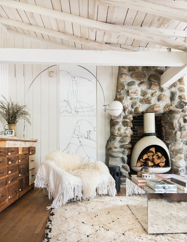Fill your fireplace with logs