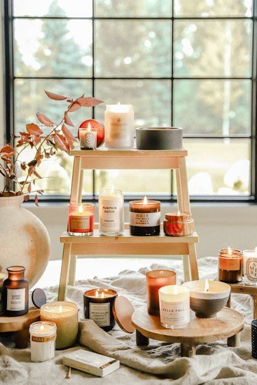 Decorate with fall candles
