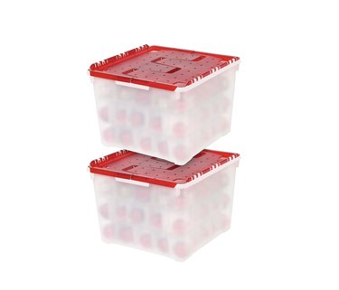 Plastic 2 pack of ornament storage containers