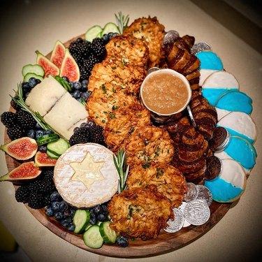 Hanukkah Cheese Board
