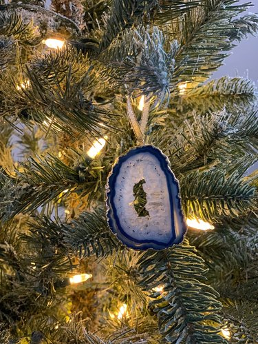 Crystal ornament in blue