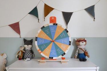 DIY IKEA hack kids activity wheel