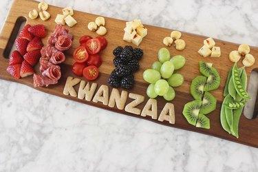 Kwanzaa Kinara Cheese Board