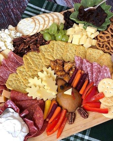 Thanksgiving Turkey Cheese Plate