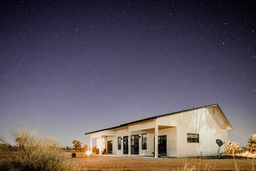 Yucca Valley home at dusk