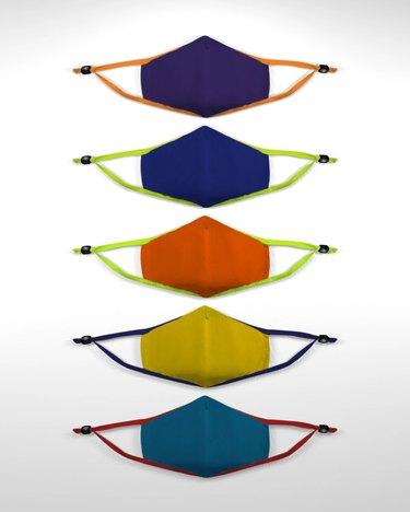 Colorful kids masks