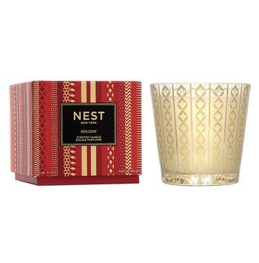 Nest holiday candle