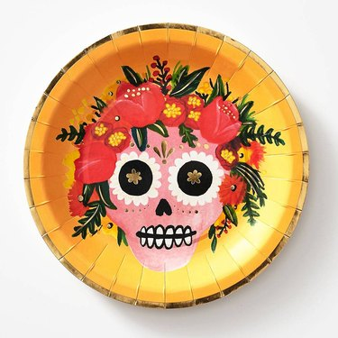 PaperSource Sugar Skull Plates