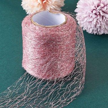 Pink Spider Web Netting