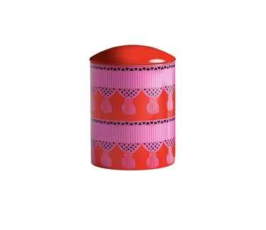 Kasbah red and pink candle