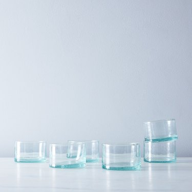 Spanish-style wine glasses