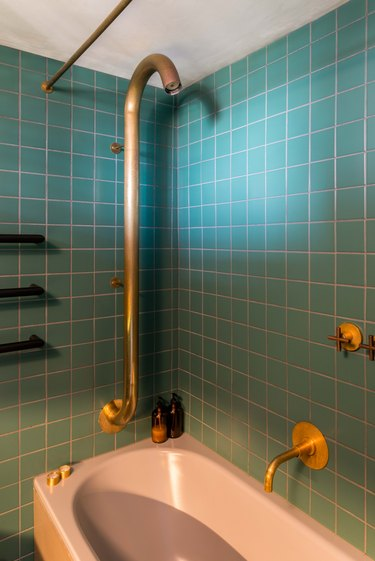 The shower of the primary bath.