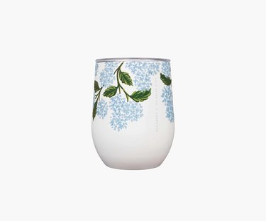 To-go wine cup with floral pattern