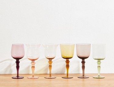 Colorful wine glasses