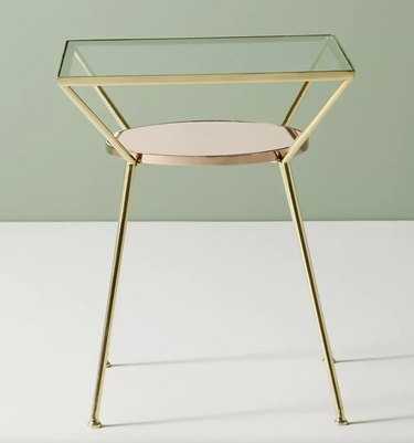 Gold and Glass Nightstand