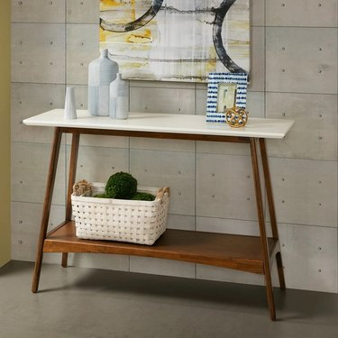 Wood and white console