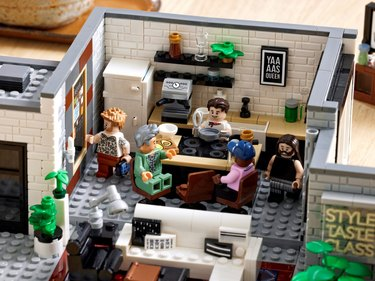 lego kitchen with fab 5 figurines