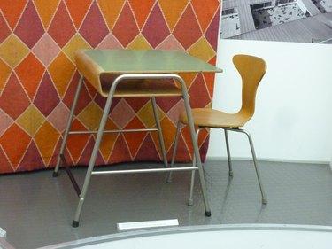 midcentury school desk