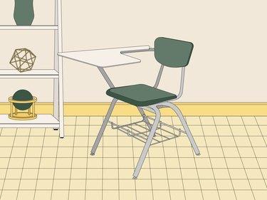 school desk illustration