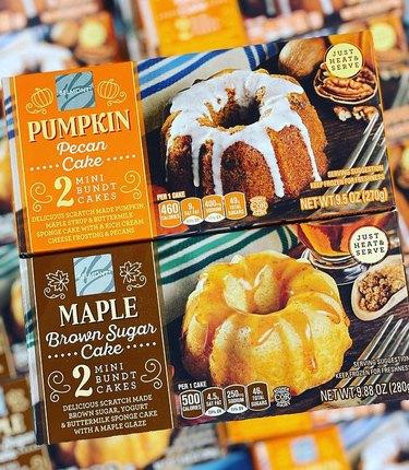 Aldi fall mini Bundt cakes
