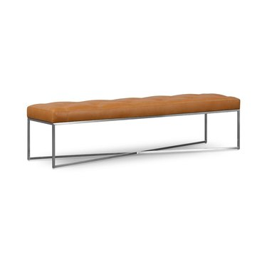 Maeve Rectangle Leather Bench