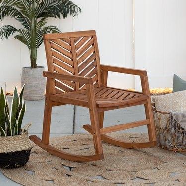 wood patio rocking chair