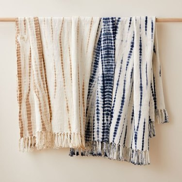 Handwoven Tie-Dye Throw