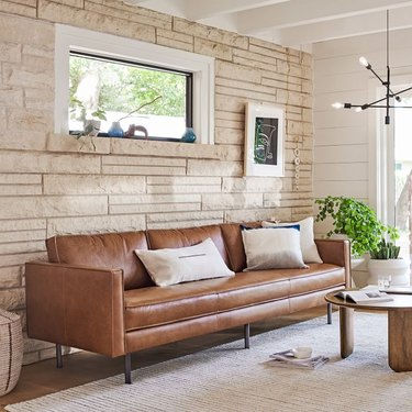 Axel 89-inch Leather Sofa