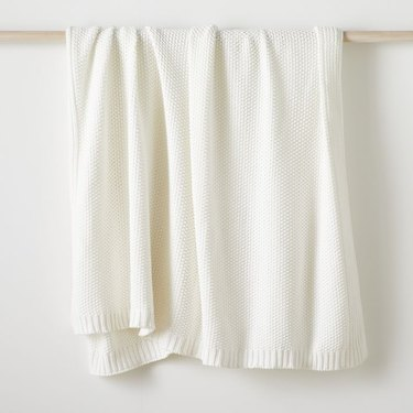 Cotton Knit Oversized Throw