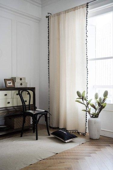 Tasseled curtains