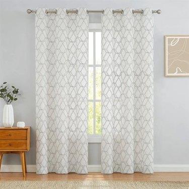 Geometric curtain pair
