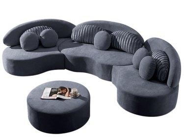 7-seat Modular Velvet Sofa